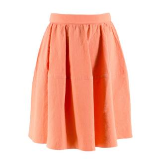 Carven Peach A-line Skirt