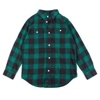 Polo by Ralph Lauren boys green checked shirt
