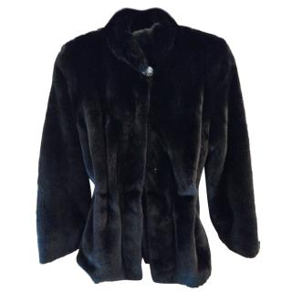 Saga Fur's black mink fur jacket