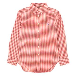 Ralph Lauren boys red checked shirt