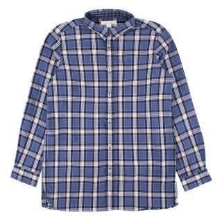 Marie Chantal boys dark blue checked shirt