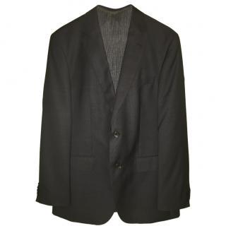 Hugo Boss Mens Italian Virgin Wool Super 130 Navy Suit