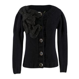 Mulberry wool-knit cardigan