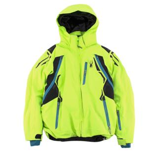 Spyder children's age 8 neon ski jacket
