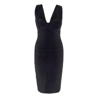 1fd0fbf27a44 Herve Leger black bandage dress