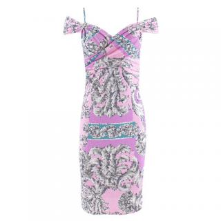 Versace Collection geometric-print jersey dress