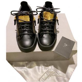 Giuseppe Zanotti Black leather trainers