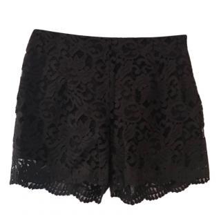 Francesco Scognamiglio Black Lace Shorts