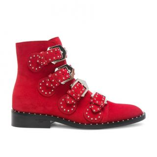Givenchy suede studded boots