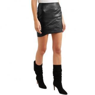 Iro Enmag Wrap Style Leather Mini Skirt