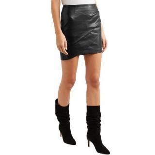 Iro Enmag Wrap Style Leather Mini Skirt