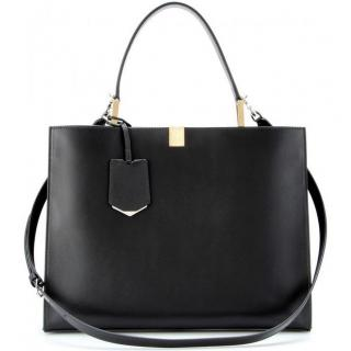 Balenciaga Black Le Dix Cabas Leather Tote