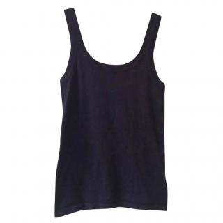 La Perla Navy Vest Top