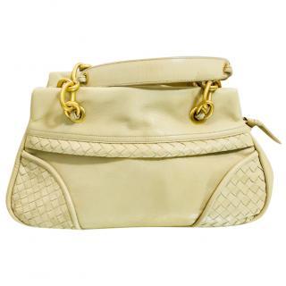 Bottega Veneta Cream Handbag