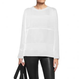 IRO Abele Cream Silk & Jersey Sweatshirt Top