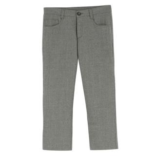 Harrods of London boys age 10 grey wool trousers