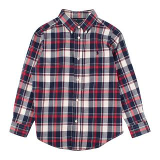 Ralph Lauren boys age 7 cotton plaid shirt
