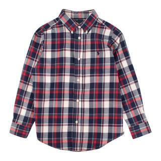Ralph Lauren boys age 7 cotton plaid shirt