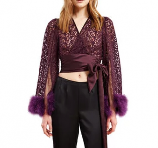 Anna Sui x Opening Ceremony Butterfly Embroidered Tulle Top