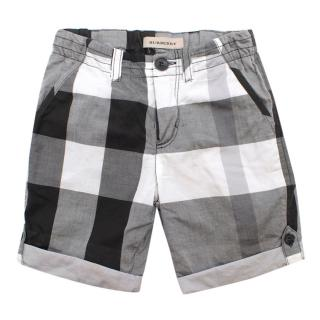 Burberry boys checked shorts