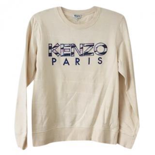 Kenzo Cream Logo Sweatshirt Jumper