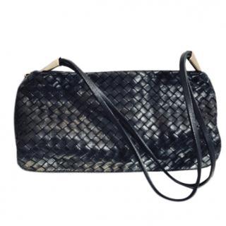 Bottega Veneta Black Woven Shoulder Bag