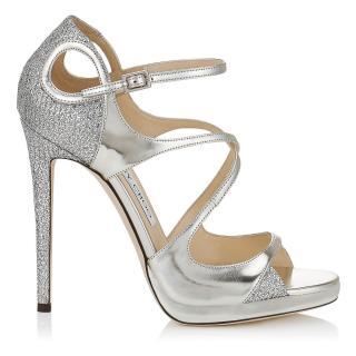 Jimmy Choo Fancie 120 Silver Sandals