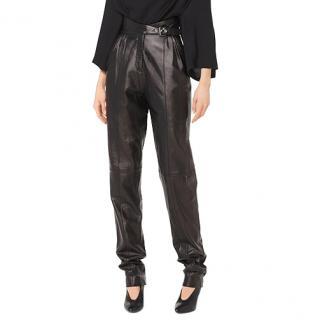 Michael Kors Plonge Leather Trousers
