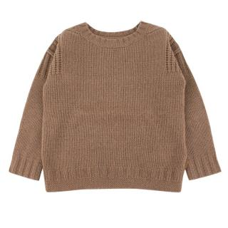 Burberry boys age 4 camel-brown wool sweater
