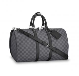 Louis Vuitton Keepall Bandouliere Damier Canvas Bag