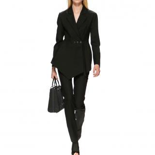 Dior wool & silk asymmetric runway black blazer