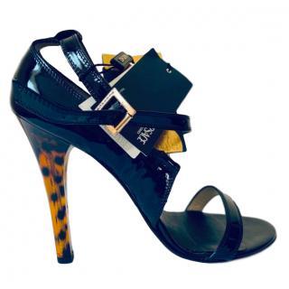 Versace Patent Leather Medusa Sandals