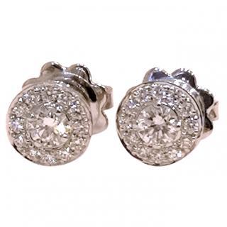 Mappin & Webb Diamond Halo Earrings 18ct Gold