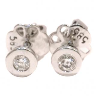 Bespoke Diamond Stud Earrings 14ct White Gold