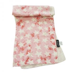 Jetset Stelle Star Print Pink White Scarf
