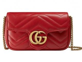 Gucci GG Marmont matelass� leather super mini bag