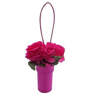 Lulu Guinness Rose Basket fuchsia bag