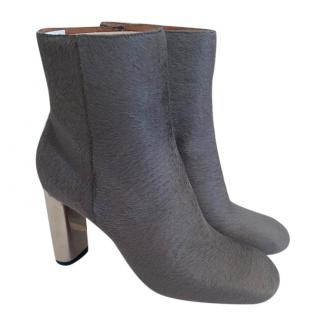 Celine ponyhair ankle boots