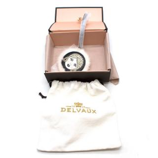 Delvaux Face Keychain/Bag charm with Mink Fur