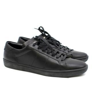 Saint Laurent Black Classic Leather Trainers