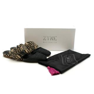 Zyne Raffy III raffia-fringed shoes - Current