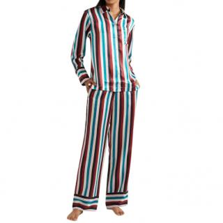 Asceno Pyjama Silk Stripe Set