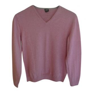 Hugo Boss Pink Cotton Jumper