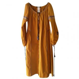 Max Mara embroidered boho dress
