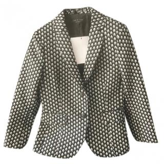 Rag & Bone Arrow Print Bailey Wool Blazer