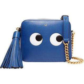 Anya Hindmarch Eyes Right Circus Blueberry Crossbody Bag
