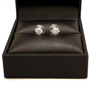 De Beers 0.60ct Diamond Earrings Platinum