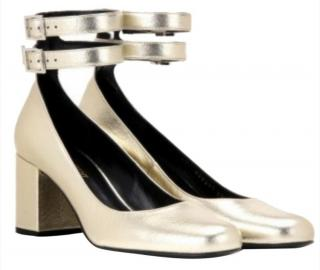 Saint Laurent Babies Metallic Pumps
