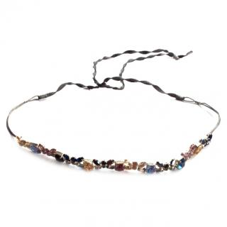 Jenny Packham multi colored crystal headband