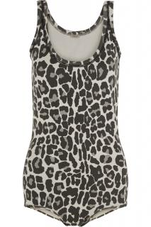 Bottega Veneta Leopard Print Cotton-Blend Bodysuit